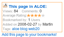 Embeddable ALOE information